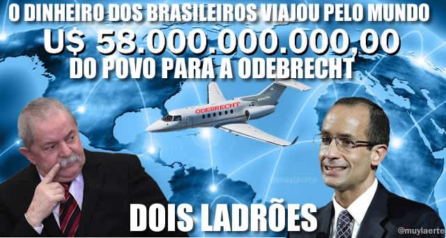 Lula e Marcelo Odebrecht espalharam a corrupção pelo mundo com dinheiro do BNDES dos brasileiros