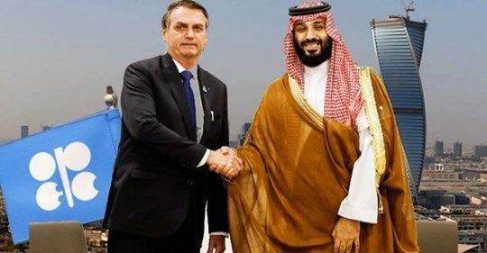 Arábia Saudita convida Brasil para se juntar à Organização dos Países Exportadores de Petróleo (Opep)