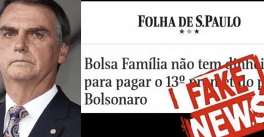 """Jair Bolsonaro diz que a Folha de SP é um """"jornaleco campeão em fake news e desinformação"""""""