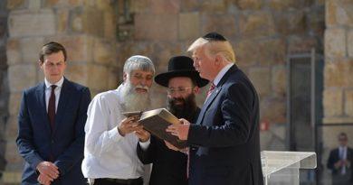 """Mais de 200 rabinos dizem em carta que Trump cumpriu """"profecia de Jeremias"""""""