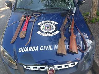 GCM de Sumaré apreende armas e cabos de telefonia