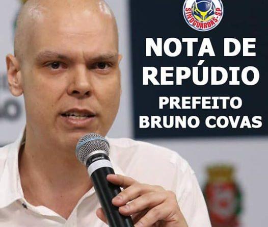 Nota de Repúdio contra o Prefeito Bruno Covas