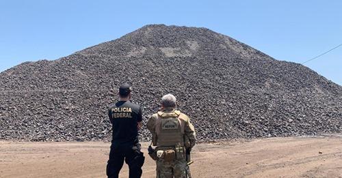 PF apreende 70 mil toneladas de manganês ilegal no Pará; carga iria para China