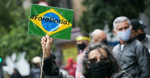 Fora Doria ecoou na Paulista