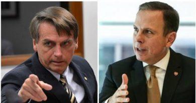 Doria só não quebrou SP por causa do governo federal, diz Bolsonaro