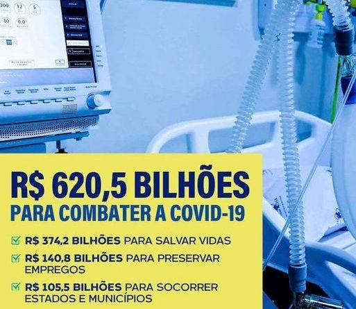 Governo Bolsonaro investiu R$ 620 bilhões no combate ao covid-19