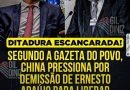 China Comunista tenta derrubar o Ministro Ernesto Araújo