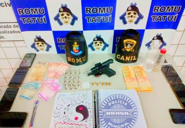Guarda Civil de Tatuí ocorrência de tráfico