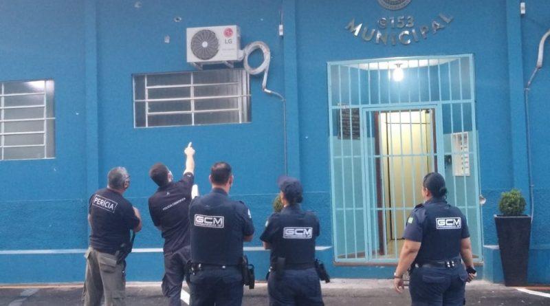 Quadrilha explode caixa eletrônico e atira contra base da GCM em Pitangueiras, SP