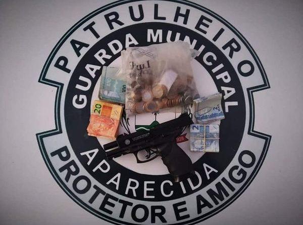 Guarda Civil Municipal de Aparecida detém ladrão armado