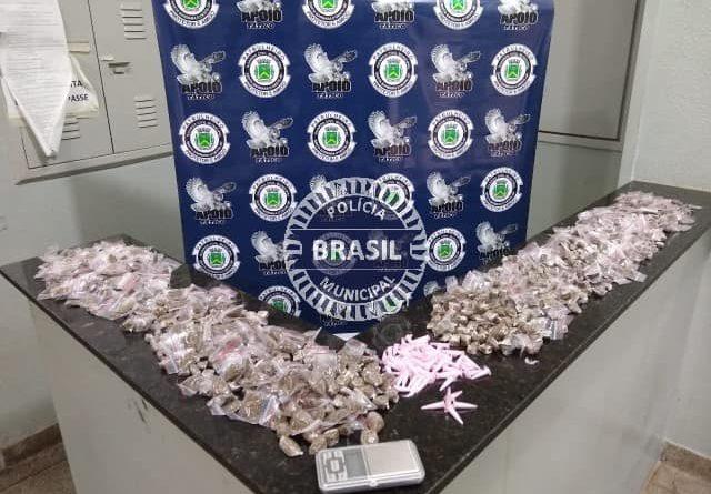GCM SANTA BÁRBARA D'OESTE-SP APREENSÃO DE DROGAS