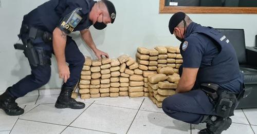 Guarda Municipal apreende 111 tijolos de maconha